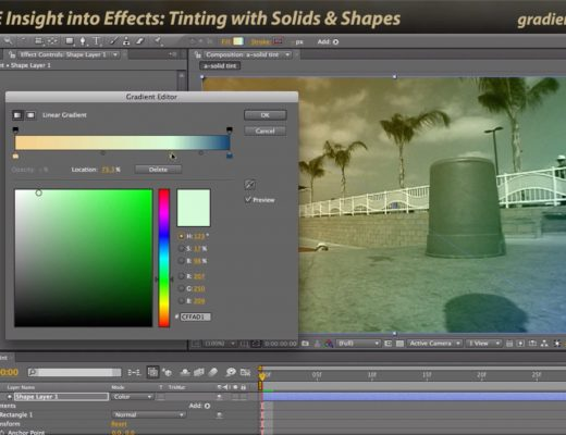 After Effects Classic Course: Tinting with Solids & Shape Layers 8