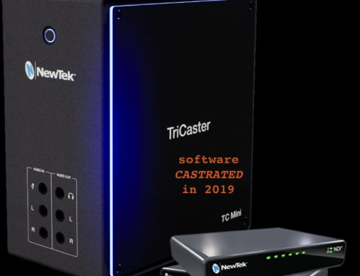 Why NewTek castrated the TriCaster Mini's software (2019) 16
