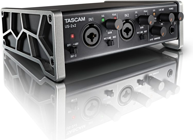 Tascam US–2X2 preamp/A-D converter interface review 12