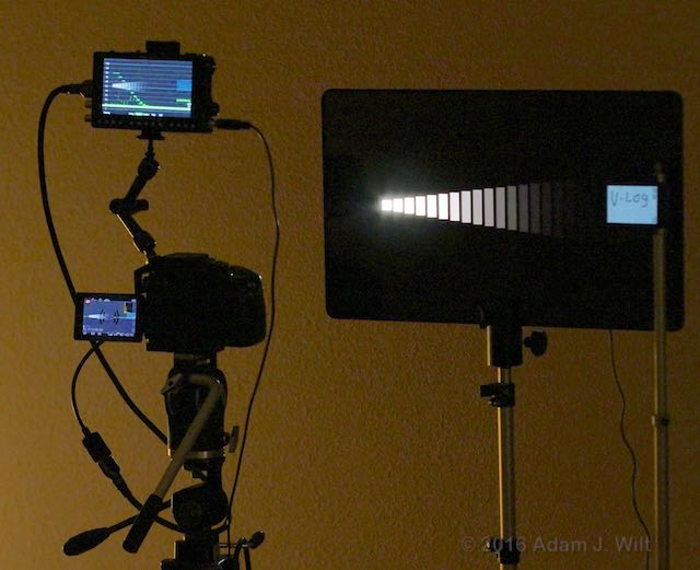 GH4 with PIX-E5 monitor/recorder facing a DSC Labs Xyla