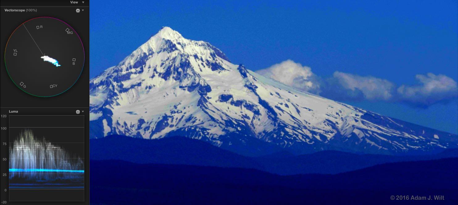 Mt. Hood, heavily graded 8-bit external V-Log L