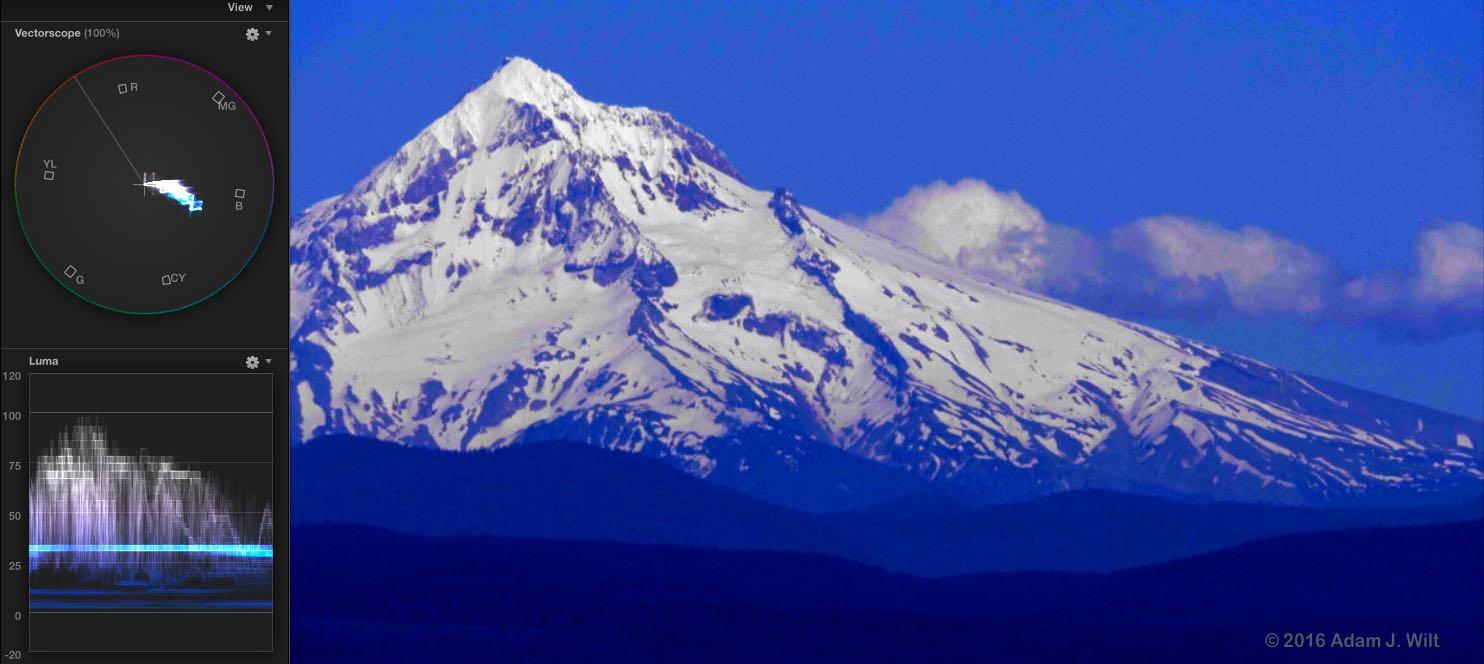 Mt. Hood, heavily graded 8-bit internal V-Log L