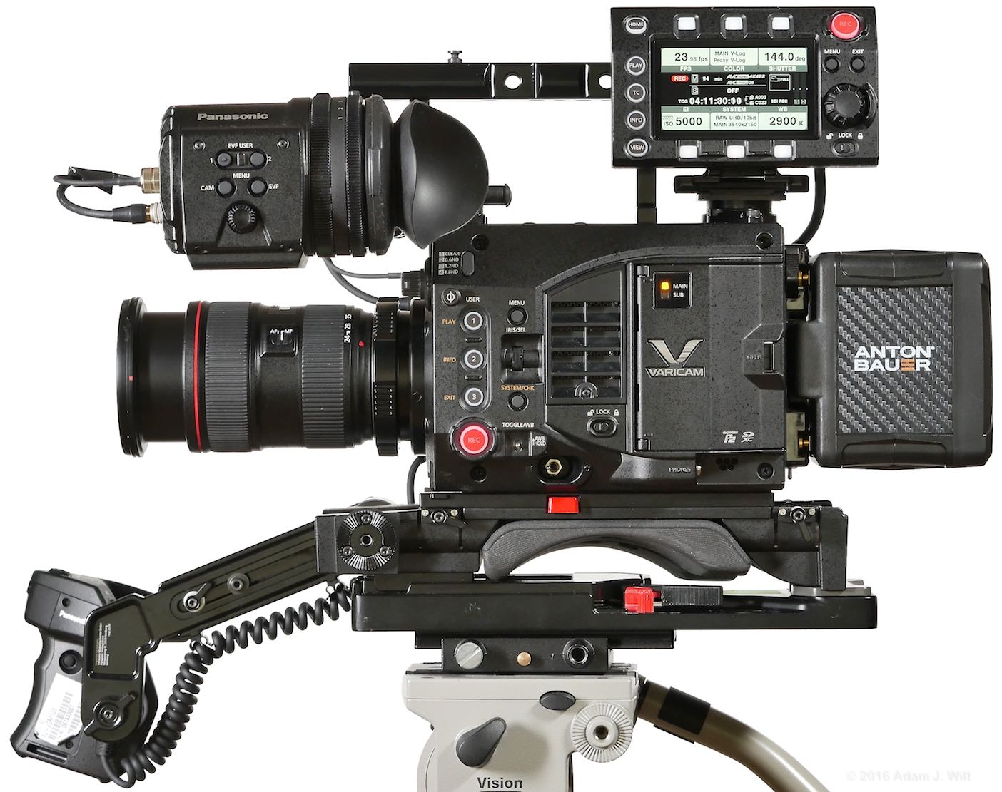 VariCam LT side view with control panel