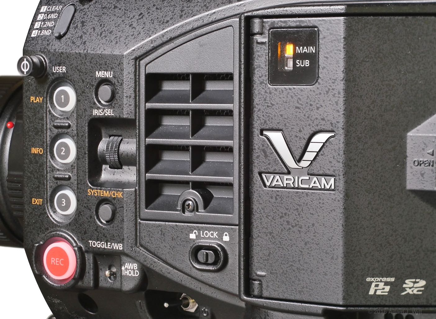 detail of VariCam LT side panel