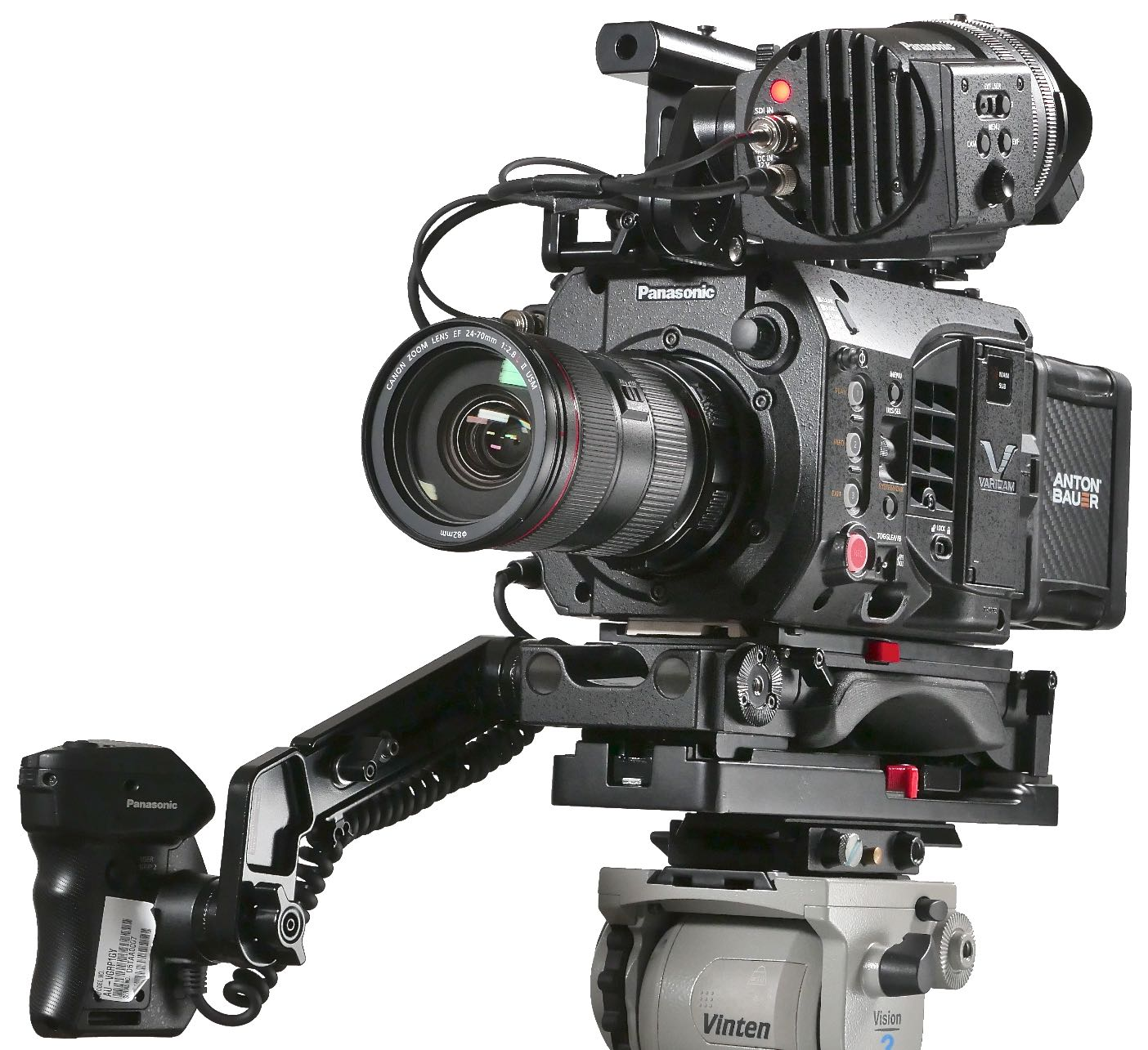 Review Panasonic Varicam Lt 4k Super35mm Cine Camera By Adam Wilt Push The Meter Into Black Mounting Flange From Back Until It