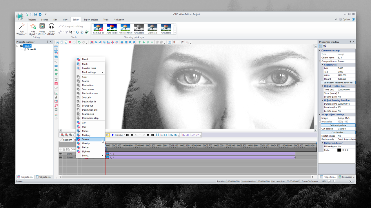 VSDC is a Free Video Editing Software for Beginners on a