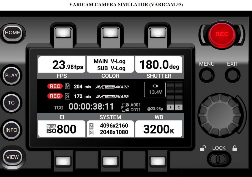 Varicam menu simulator now available 1