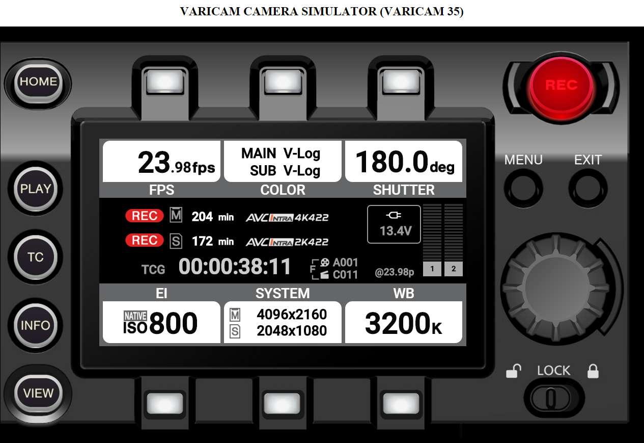 VariCam V35 Simulator