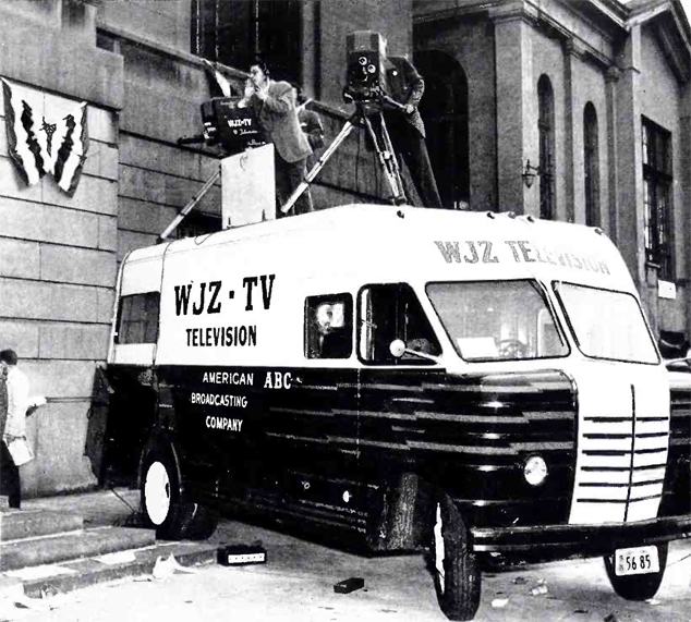 WJZ's RCA TJ-50 at the political conventions in Philadelphia in 1948. From RCA Broadcast News