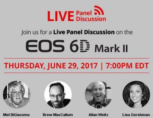 Canon EOS 6D MKII webinar, June 29, 2017
