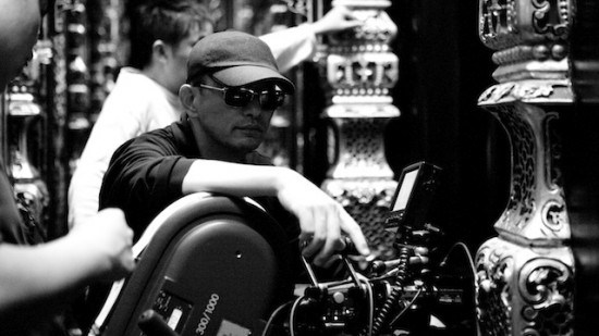 "Image of Wong Kar-Wai on the set of his film ""The Ferry Man"" (used without permission)"