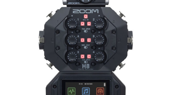 Review: Zoom H8 multitrack audio recorder 1