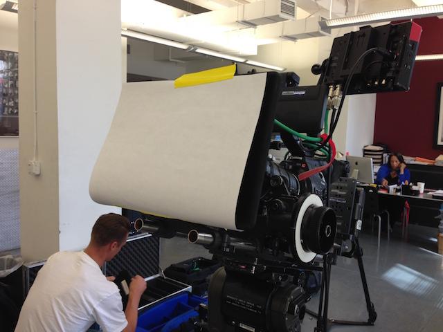 Zoom lens test setup