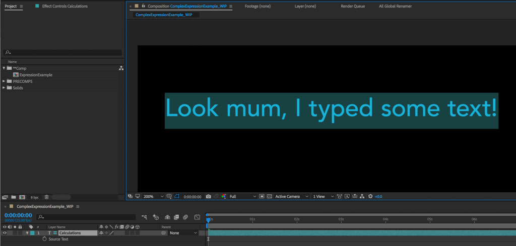 Managing complex expressions in After Effects 11