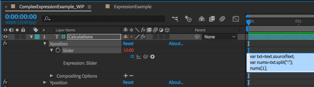 Managing complex expressions in After Effects 18