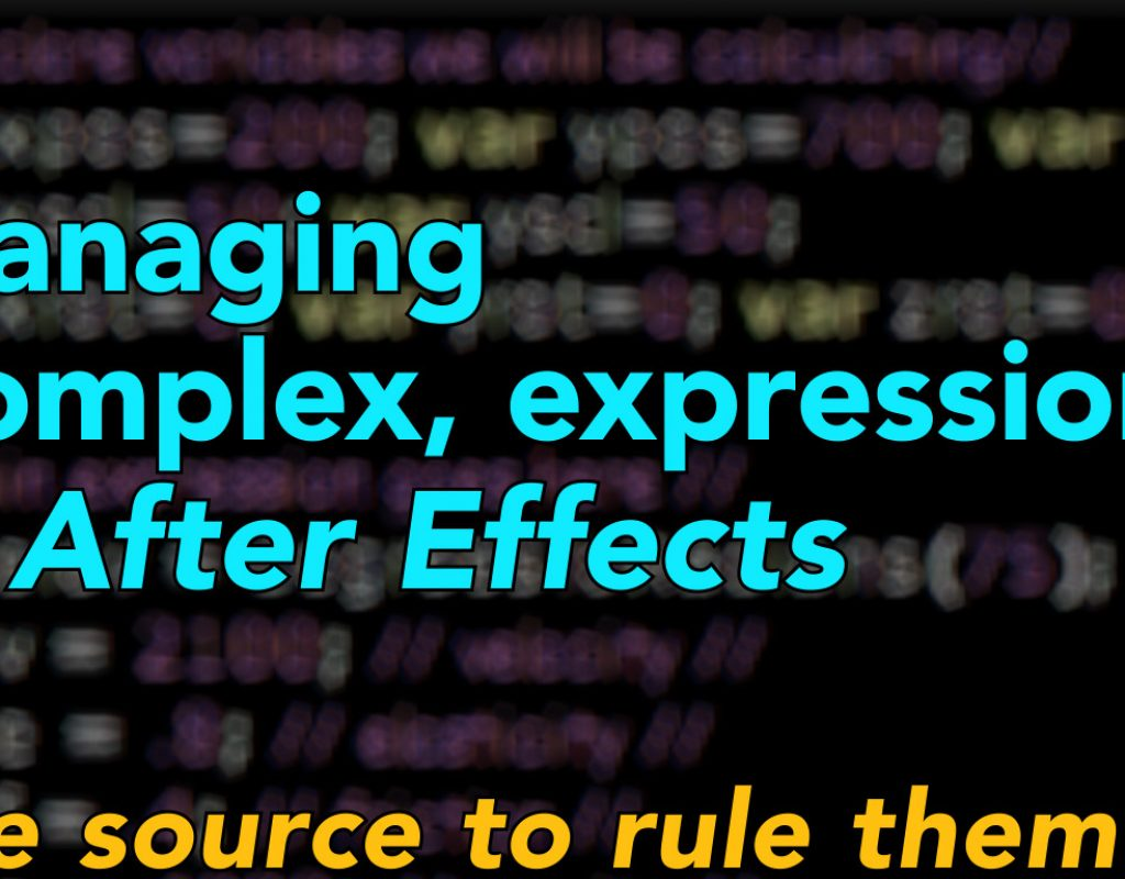 Managing complex expressions in After Effects 9