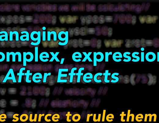 Managing complex expressions in After Effects 3