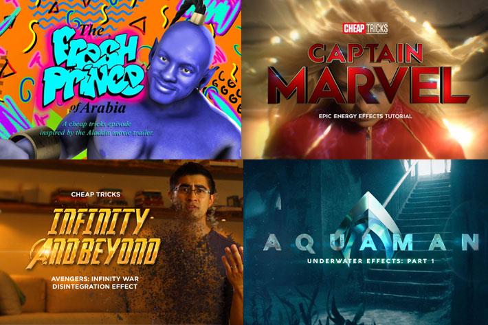 Red Giant Cheap Tricks: creating VFX similar to Alladin or Captain Marvel
