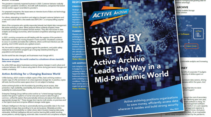 A report and a conference: how active archives can help you save money