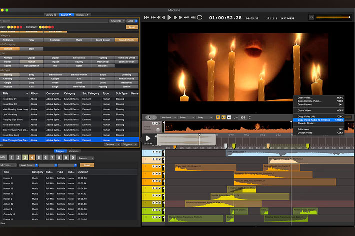 Audio Design Desk: real-time audio to video sound editing using AI