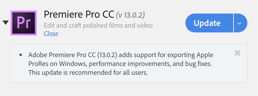 Adobe adds ProRes export support on Windows in the latest release 10