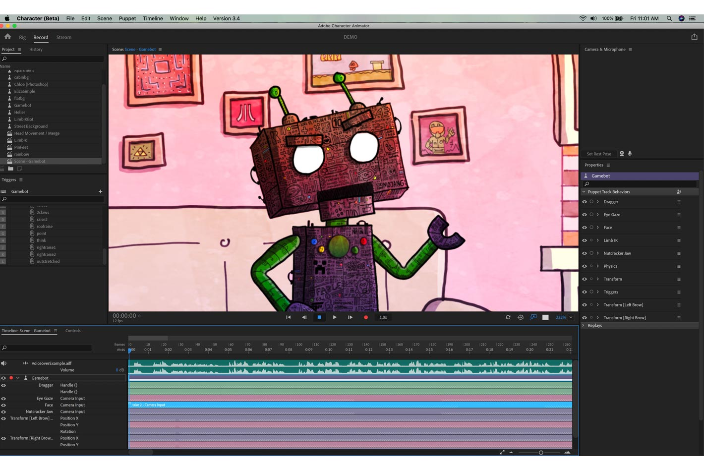Adobe Character Animator: new Beta gets new features