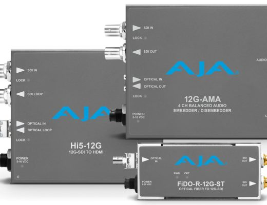 New AJA 12G-SDI Mini-Converters transfer 12G-SDI over long distance