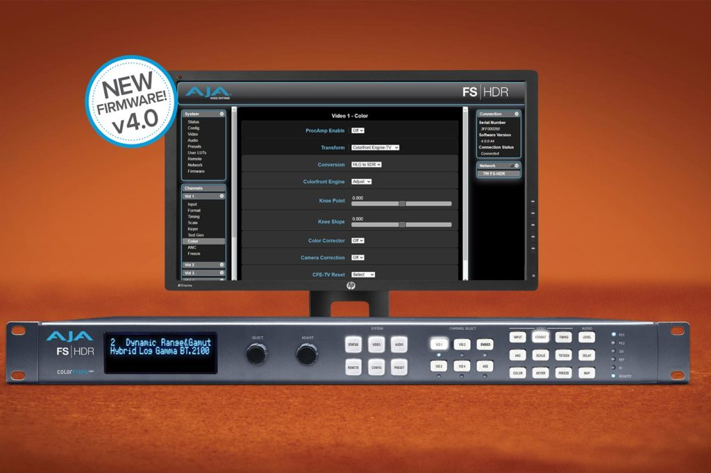 AJA introduces new Colorfront Engine TV Mode