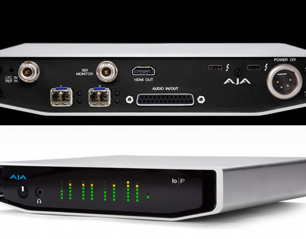 AJA unveils Io IP with Thunderbolt 3