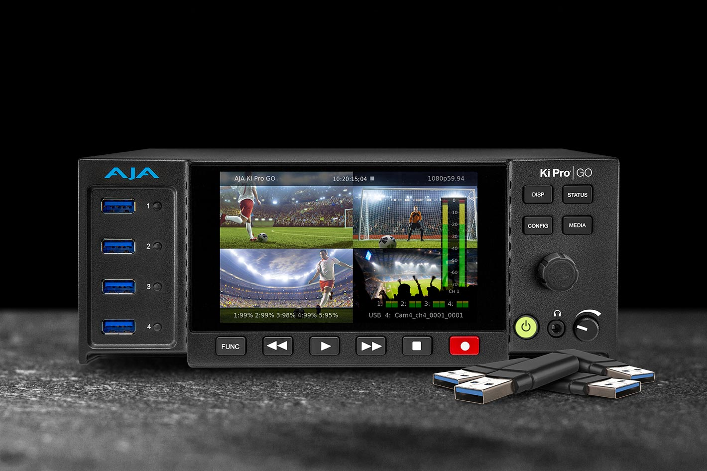 AJA upgrades Ki Pro GO H.264 recorder and player