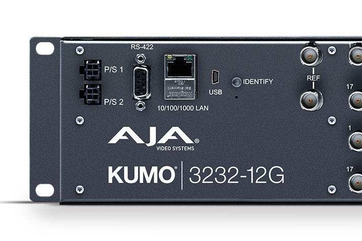 AJA ships KUMO 3232-12G compact 32x32 12G-SDI router