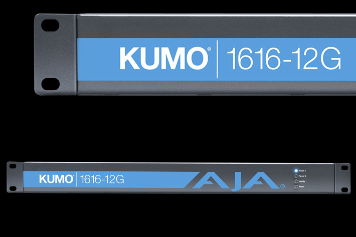 AJA releases KUMO 1616-12G Compact 12G-SDI Router