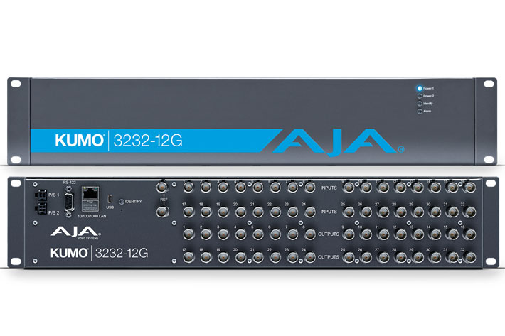 AJA ships KUMO 3232-12G compact router for emerging 8K workflows 1