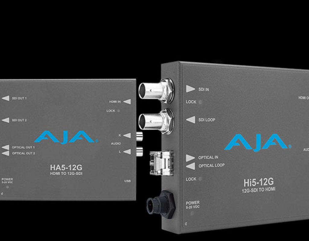 AJA introduces Hi5-12G and HA5-12G Mini-Converter