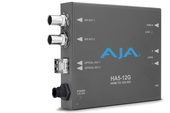 AJA introduces Hi5-12G and HA5-12G Mini-Converters