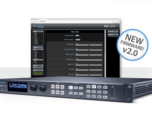 AJA's FS-HDR v2.0 software enables greater control over color processing and HDR