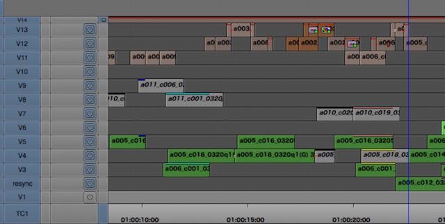amc timecode source timeline
