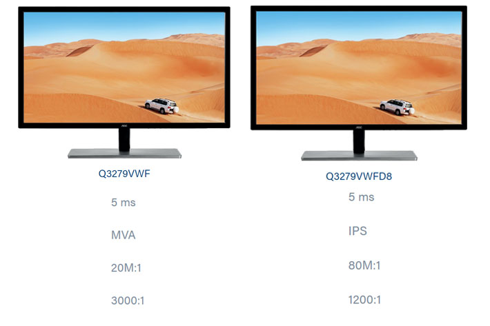 """AOC Q3279VWFD8: new 31 5"""" monitor uses IPS panel for better"""