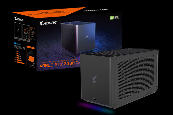 Gigabyte at CES 2020: the first water-cooled eGPU for content creators