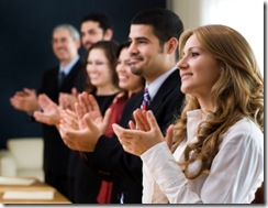 applauding business people