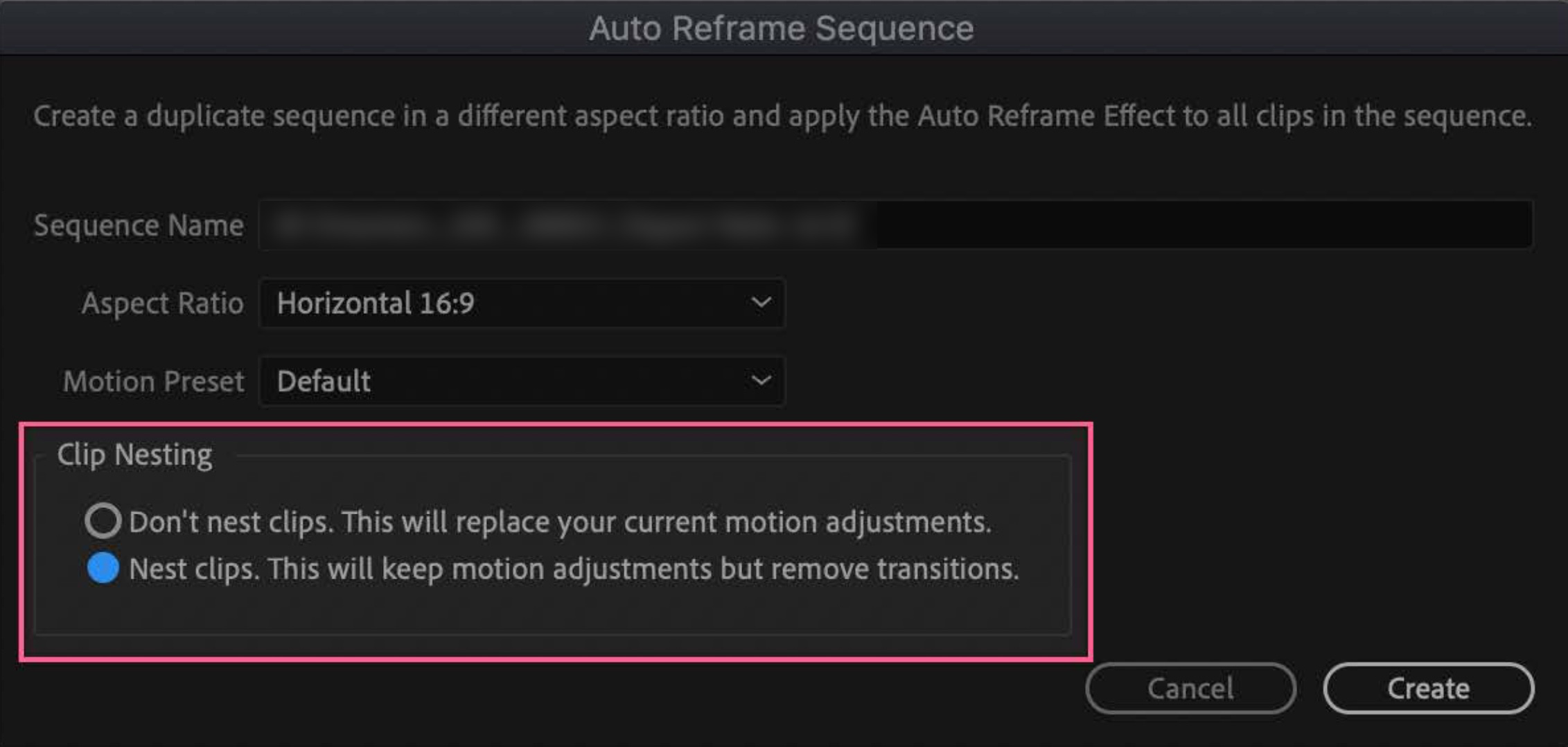 Auto Reframe: a Premiere Pro feature preview 3