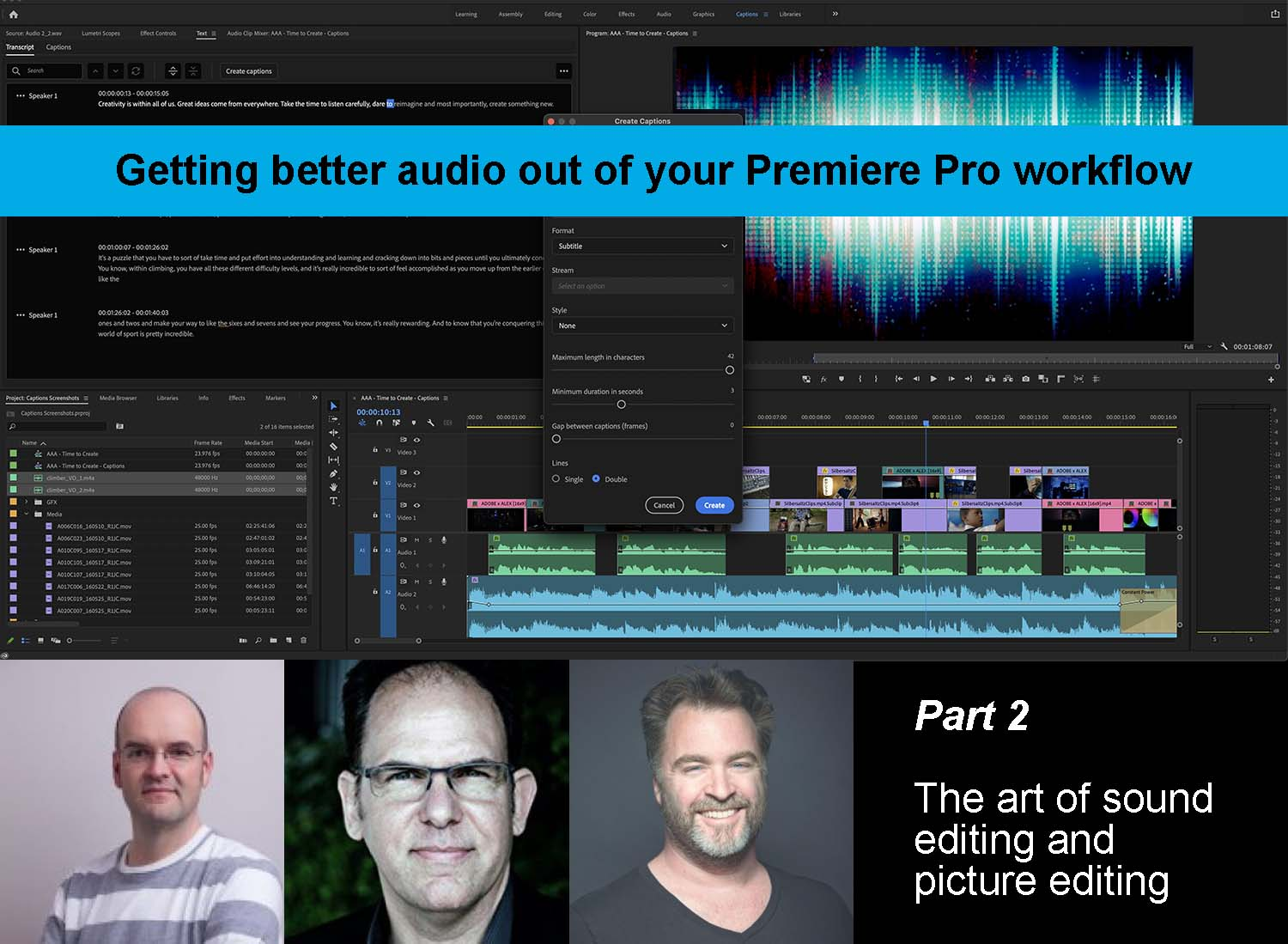 Exploring the tools that enable the art of sound editing and picture editing 4