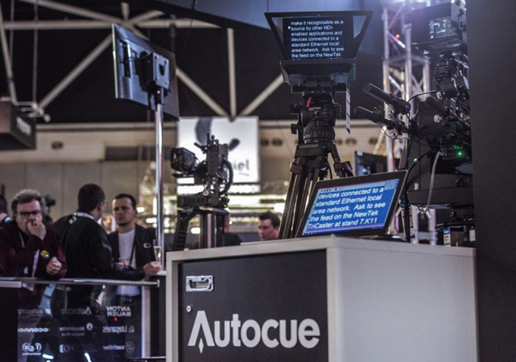 Autocue and NewTek: teleprompting over IP at IBC 2016 1