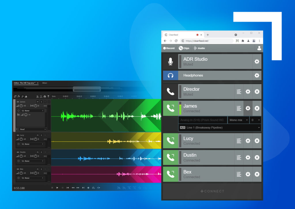 Cleanfeed enriches remote multitrack with Aux Outputs 1