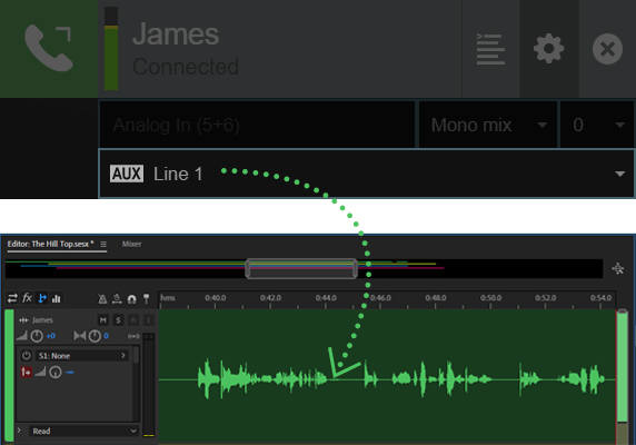 Cleanfeed enriches remote multitrack with Aux Outputs 9