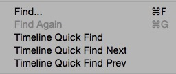 avid 84 timeline quick find menu