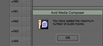 avid85 64 audio tracks