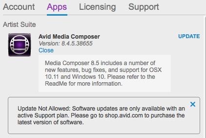 avid85 app manager
