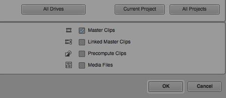 avid 85 old media tool options