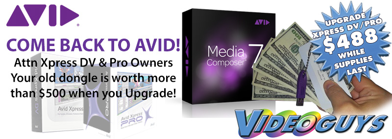Avid Wants You Back! Your Avid Xpress Pro or Xpress DV dongle is worth $500!! 4